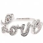 Love-Ring aus Diamanten und Weissgold, von Cada, 1095 EUR