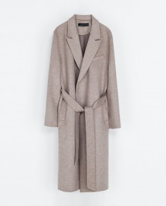 Coat with belt, Zara, ca 200 EUR, zara.com
