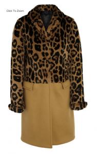 Leo-print rabbit and cashmere coat, Burberry Prorsum, 9000 EUR, net-a-porter.com