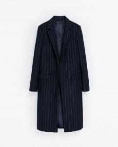 Pinstriped Coat, Zara, ca 150 EUR, zara.com