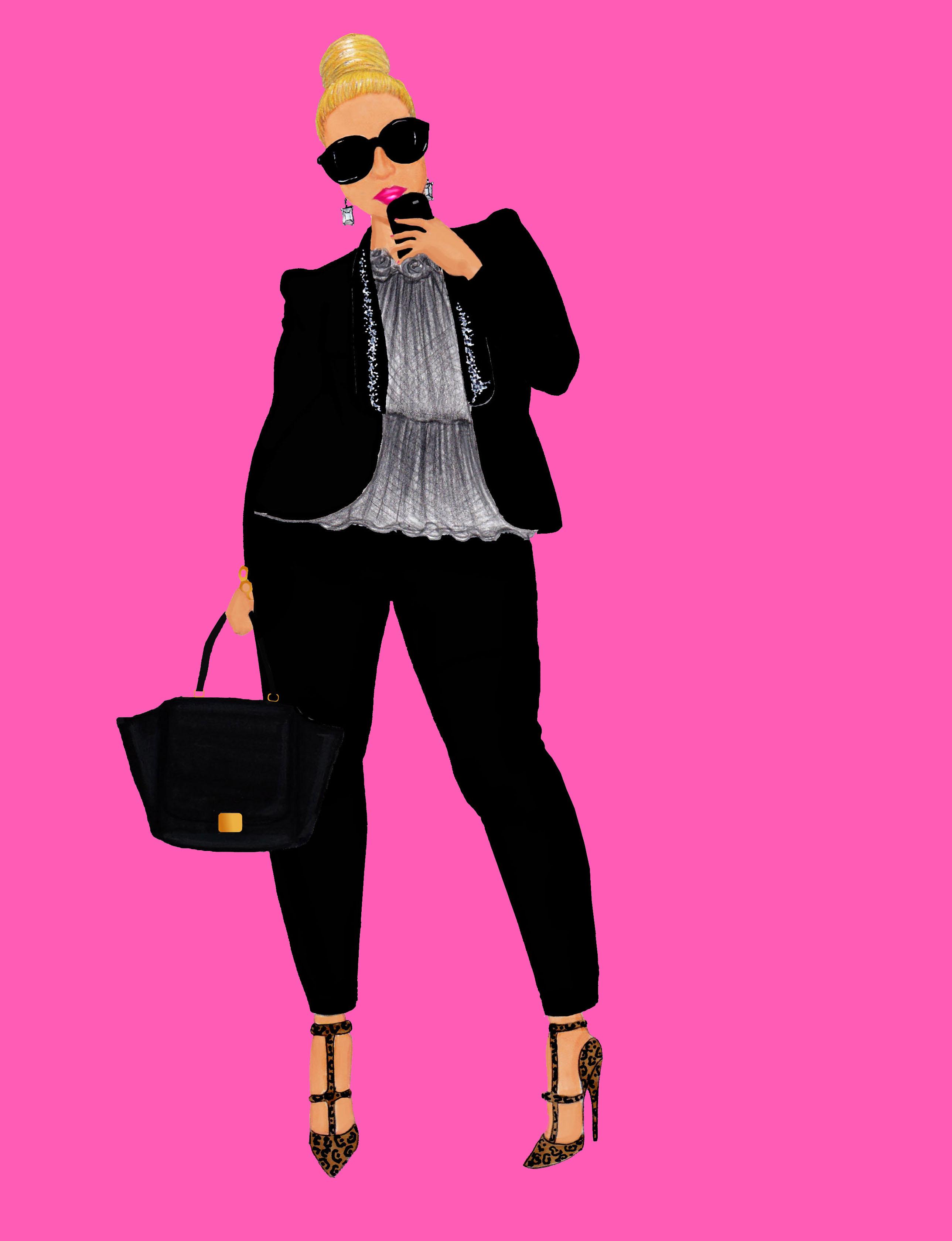 Shila Fashion Sketch Final Pink