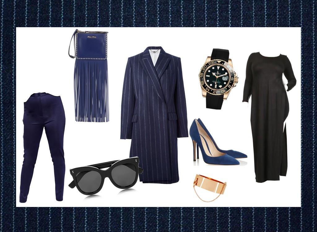 blue pinstripe style