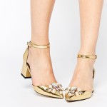 Asos, Sparkle Shoes Gold